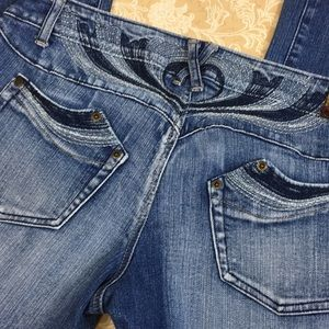 Zana Di Embroidered Boot Cut Jeans
